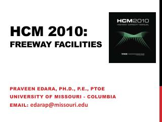 Hcm  2010: freeway facilities