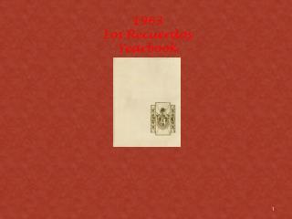 1963 Los  Recuerdos Yearbook