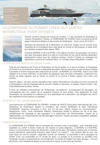 INFO PRESSE Octobre 2012 CONTACTS PRESSE : MINDSHAKE Laurence HANNON + 32 2 478 18 44