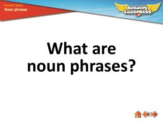 What are n oun  phrases?