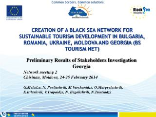 Preliminary Results of Stakeholders Investigation   Georgia Network meeting 2