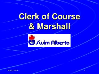 Clerk of Course  &  Marshall