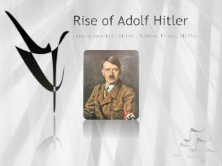 Rise of Adolf Hitler