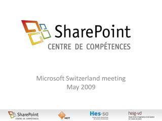 Microsoft Switzerland meeting May 2009
