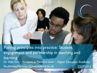 Putting principles into practice: Student engagement and partnership in teaching and learning