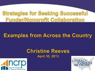 Strategies for Seeking Successful Funder/Nonprofit Collaboration