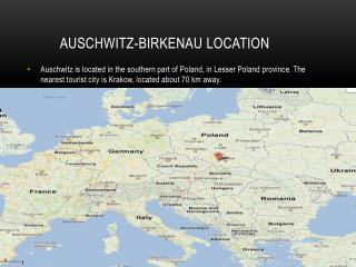 Auschwitz- birkenau Location