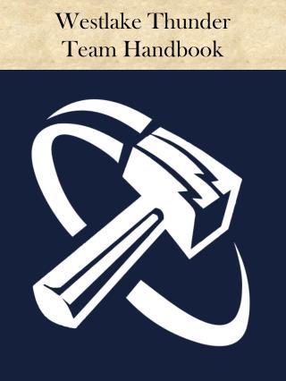 Westlake Thunder  Team Handbook