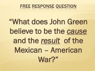 Free Response Question