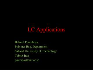 LC Applications