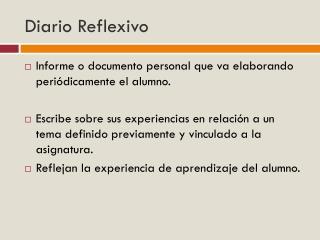 Diario Reflexivo