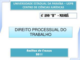 UNIVERSIDADE ESTADUAL DA PARAÍBA – UEPB CENTRO DE CIÊNCIAS JURÍDICAS