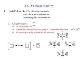 Ch. 15 Benzene Reactivity