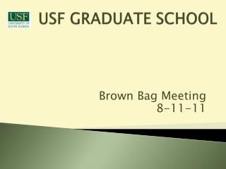 USF GRADUATE SCHOOL