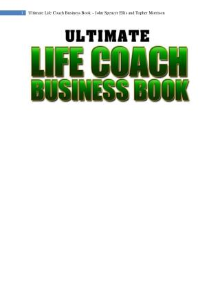 Ultimate Life Coach Business Book