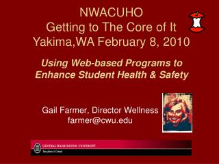 Using Web-based Programs to Enhance Student Health & Safety