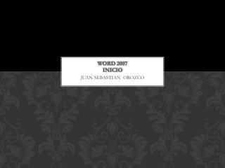 WORD 2007  INICIO