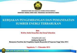 Yogyakarta, 7 � 9 November 2 01 3