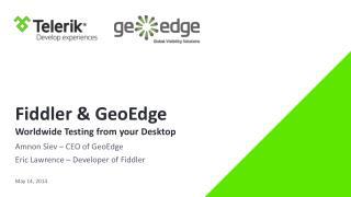 Fiddler  &  GeoEdge