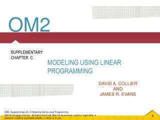 Modeling Using Linear Programming