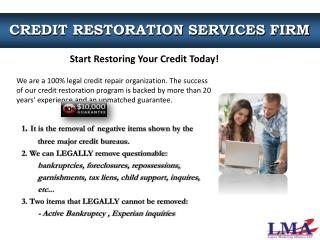 CREDIT RESTORATION SERVICES FIRM