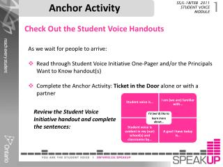 Anchor Activity