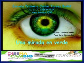 Escuela Primaria Jaime Torres Bodet C. C. T. 15EPR4712X zona escolar P055 Una mirada en verde