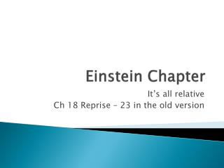 Einstein Chapter