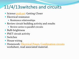 11/4/13switches  and circuits