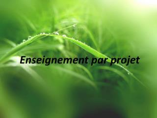 Enseignement par projet