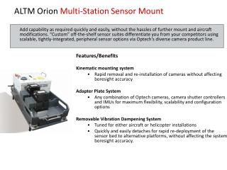 ALTM Orion  Multi-Station Sensor Mount