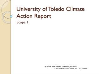 University of Toledo Climate Action Report