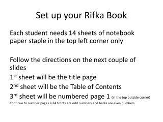 standard book report format