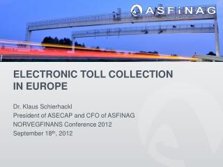 Electronic Toll Collection in Europe