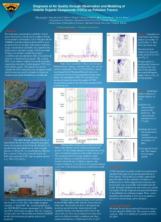 Diagnosis of Air Quality through Observation and Modeling of