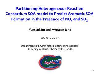 Yunseok Im  and Myoseon Jang October 25, 2011