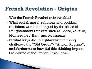 French Revolution - Origins