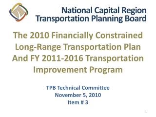The 2010 Financially Constrained Long-Range Transportation Plan