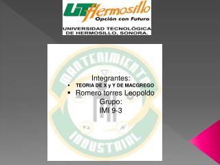 Tema:  Integrantes: TEORIA DE X y  Y  DE MACGREGO Romero torres Leopoldo Grupo : IMI  9-3