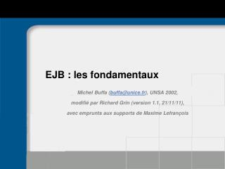 EJB : les fondamentaux