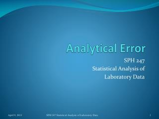Analytical Error