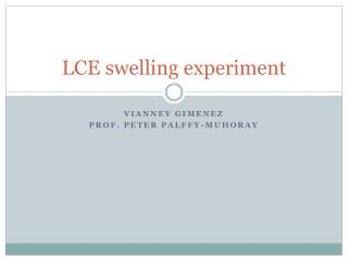 LCE swelling experiment