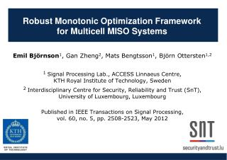 Robust Monotonic Optimization Framework  for  Multicell  MISO  Systems