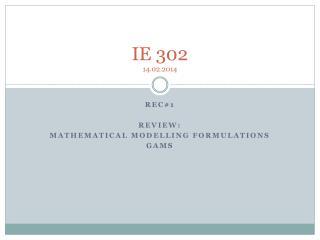 IE 302 14.02.2014