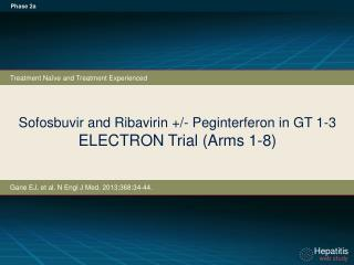 Sofosbuvir and Ribavirin +/- Peginterferon in GT 1-3 ELECTRON Trial (Arms 1-8)