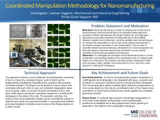 Coordinated Manipulation Methodology for  Nanomanufacturing