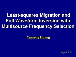 Least-squares Migration and  Full  Waveform Inversion with Multisource Frequency Selection