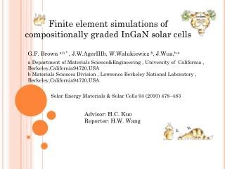 Finite element simulations of compositionally graded  InGaN  solar cells
