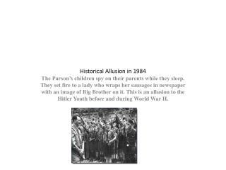 Historical Allusion in 1984