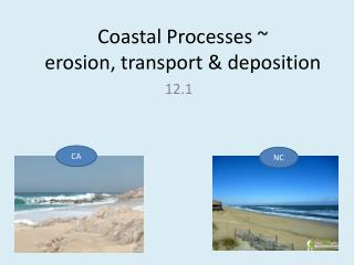 Coastal Processes ~ erosion, transport & deposition